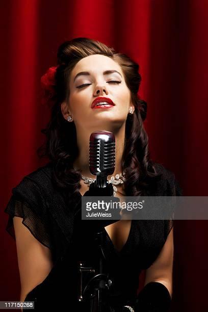 Glamourösen Retro-Singer