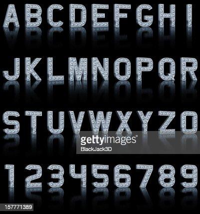 Glamour Alphabet On Black