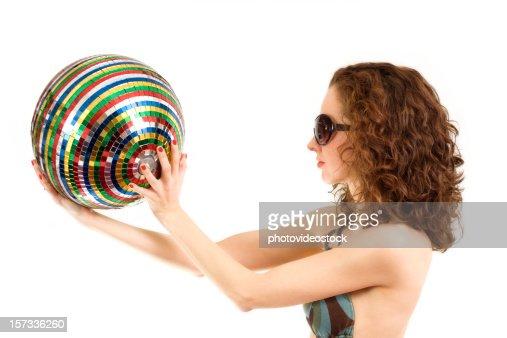 Glamour Disco Queen : Stock Photo