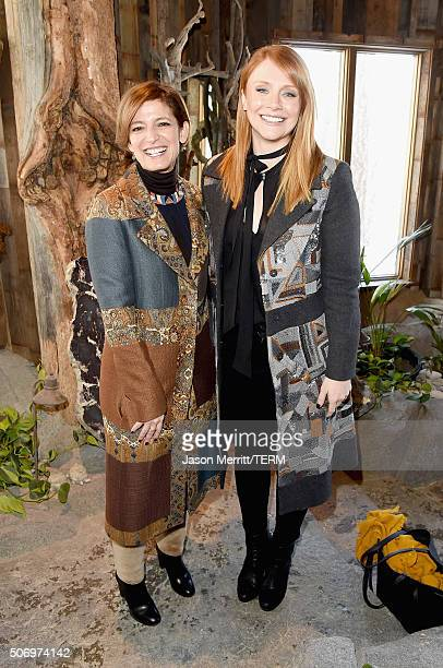 Glamour Editor in Cheif Cindi Leive and actress Bryce Dallas Howard attend Glamour's Women Rewriting Hollywood Lunch at Sundance Hosted By Lena...