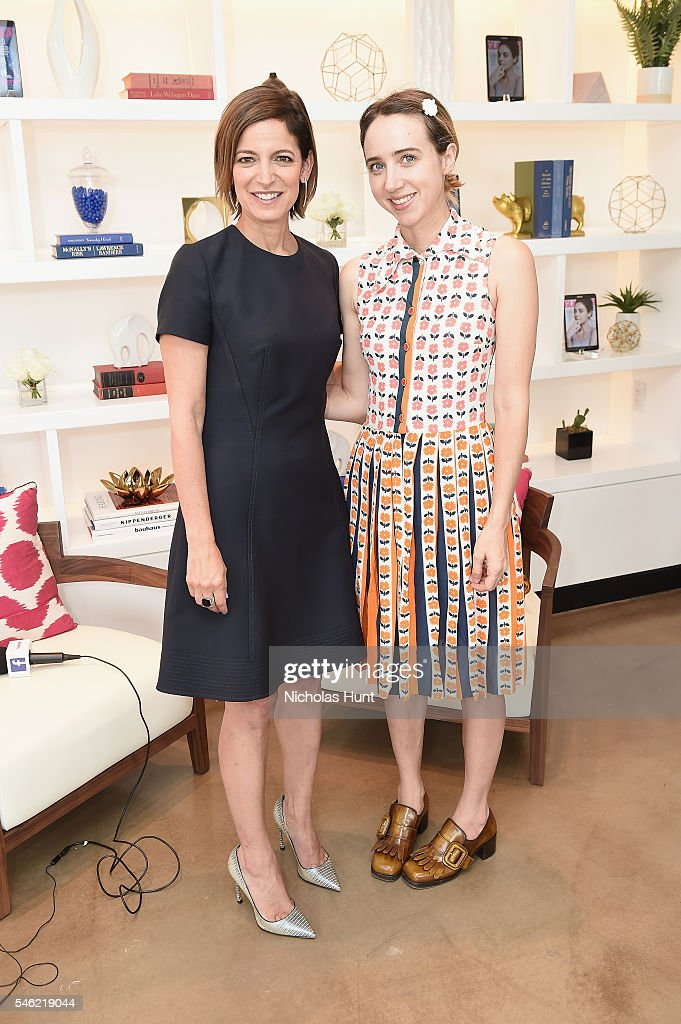 Glamour editor in chief Cindi Leive (L) and actress Zoe Kazan attend a luncheon hosted by Glamour and Facebook to discuss the 2016 election at Samsung 837 in NYC on July 11, 2016 in New York City.