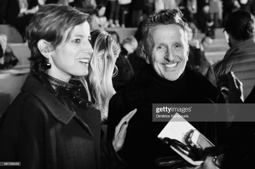 Glamour editor-in-chief Cindi Leive and Simon Doonan attends the Marc Jacobs Collection Fall 2013 fashion show during Mercedes-Benz Fashion Week at New York Armory on February 14, 2013 in New York City.
