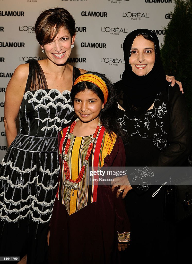 Glamour Editor-in-Chief Cindi Leive, Nujood Ali and Shada Nasser attend the 2008 Glamour Women of the Year Awards at Carnegie Hall on November 10, 2008 in New York City.