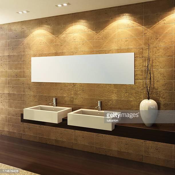 Salle de bains Glamour doré