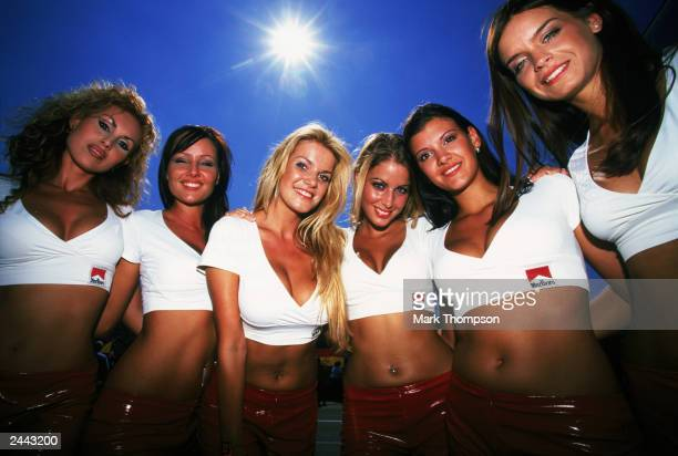 Glamour Grid Girls during the Hungarian Formula One Grand Prix held on August 24 2003 at the Hungaroring in Budapest Hungary