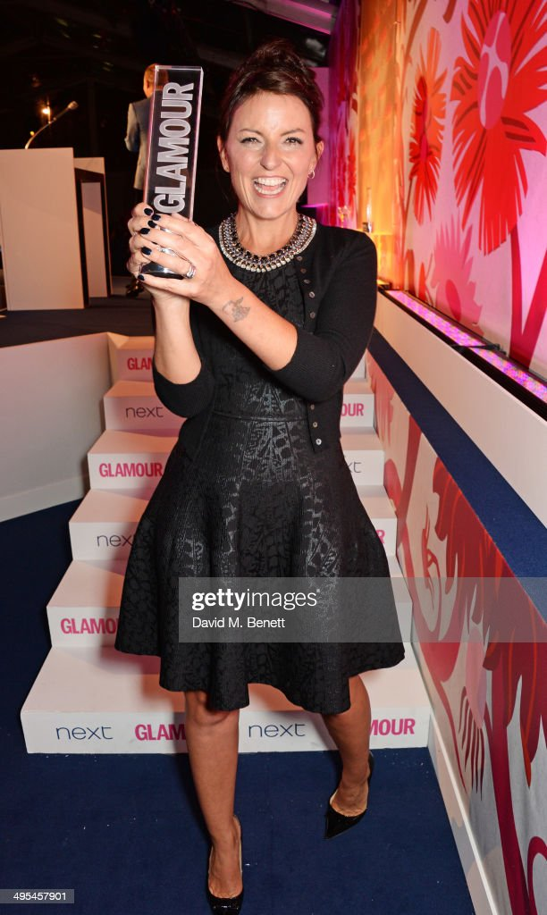 Glamour Hera Award winner <a gi-track='captionPersonalityLinkClicked' href=/galleries/search?phrase=Davina+McCall&family=editorial&specificpeople=203323 ng-click='$event.stopPropagation()'>Davina McCall</a> poses at the Glamour Women of the Year Awards in Berkeley Square Gardens on June 3, 2014 in London, England.