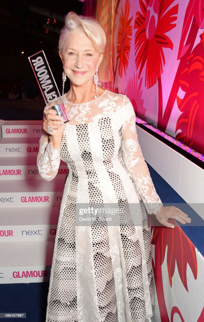 Glamour Icon award winner Dame <a gi-track='captionPersonalityLinkClicked' href=/galleries/search?phrase=Helen+Mirren&family=editorial&specificpeople=201576 ng-click='$event.stopPropagation()'>Helen Mirren</a> pose at the Glamour Women of the Year Awards in Berkeley Square Gardens on June 3, 2014 in London, England.