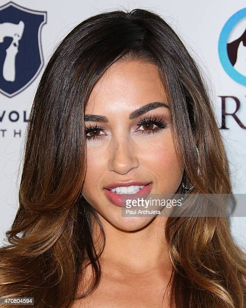Glamour Model Ana Cheri attends the 'Babes In Toyland' charity toy drive at Boulevard3 on April 22 2015 in Hollywood California