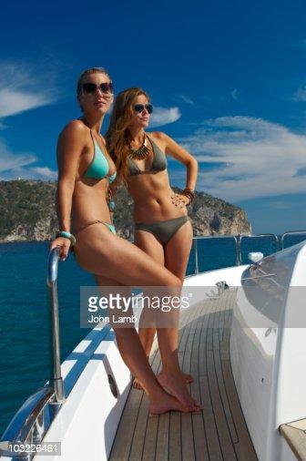 Glamour on Yacht : Stock Photo