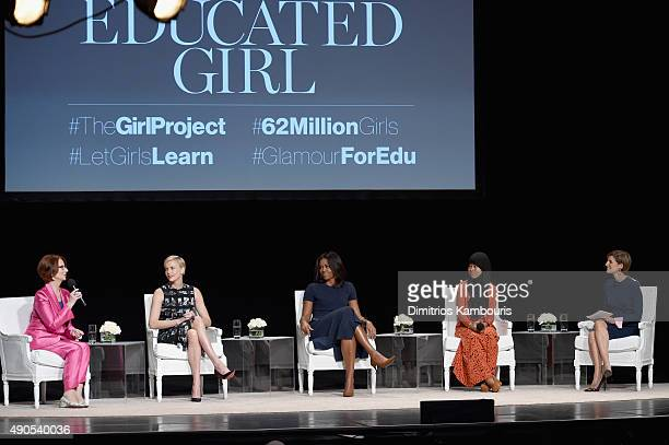Glamour's EditorinChief Cindi Leive led a panel discussion with Former Australian Prime Minister Julia Gillard Founder of Charlize Theron Africa...