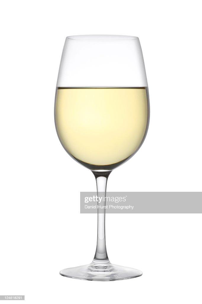Glas of white wine : Stock Photo