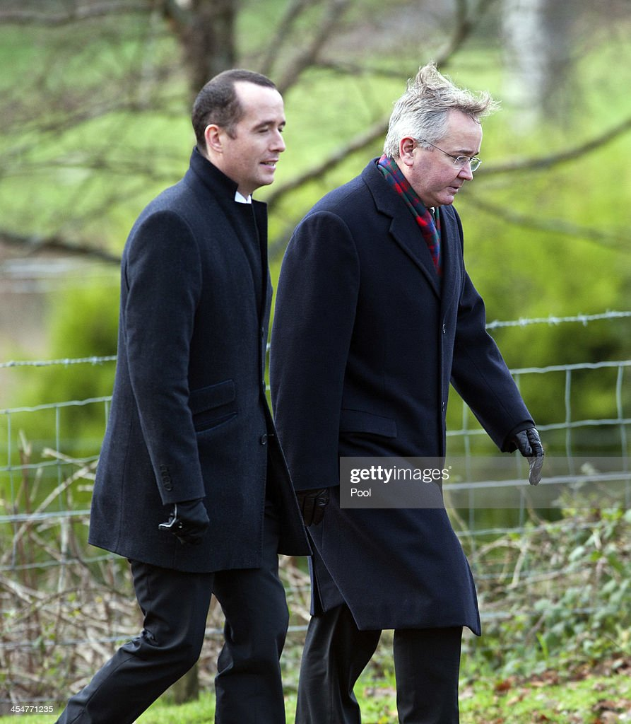 Glasgow City Council leader Gordon Mathieson attends the funeral of Clutha Vaults victim Constable Tony Collins at Lamlash cemetery on December 10...