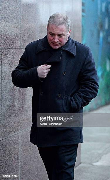Glasgow Rangers manager Ally McCoist walks along the Clydeside looking sombre after leaving a floral tribute next to The Clutha Bar on December 03...