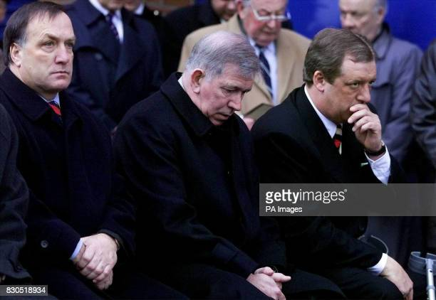 Glasgow Rangers's Dutch coach Dick Advocaat 1971 captain John Greig and chairman David Murray at a memorial service to mark the 30th anniversary of...