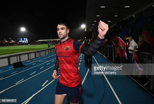 Glasgow United Kingdom 14 January 2017 Conor Murray of Munster celebrates following the European Rugby Champions Cup pool 1 round 5 match between...