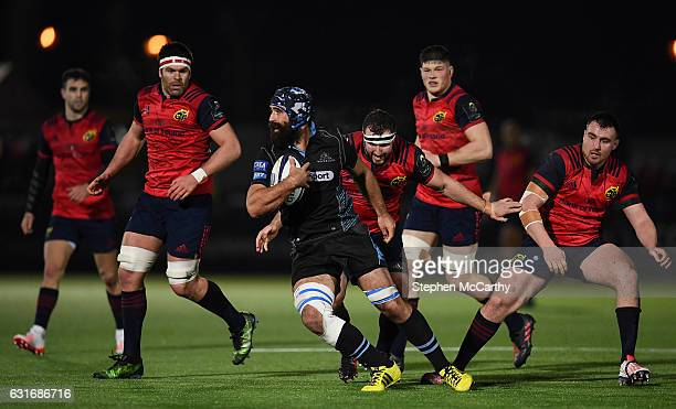 Glasgow United Kingdom 14 January 2017 Josh Strauss of Glasgow Warriors during the European Rugby Champions Cup pool 1 round 5 match between Glasgow...