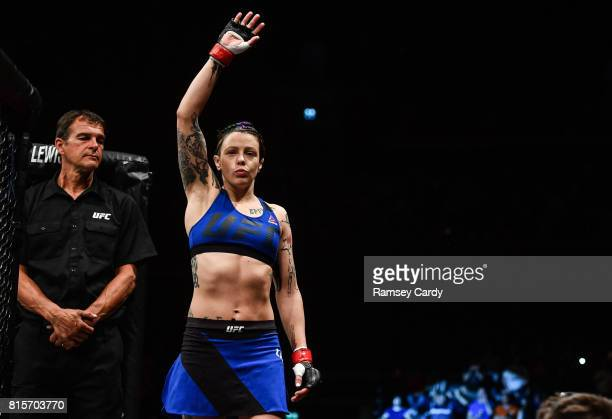 Glasgow United Kingdom 16 July 2017 Joanne Calderwood ahead of her strawweight bout against Cynthia Calvillo at UFC Fight Night Glasgow in the SSE...