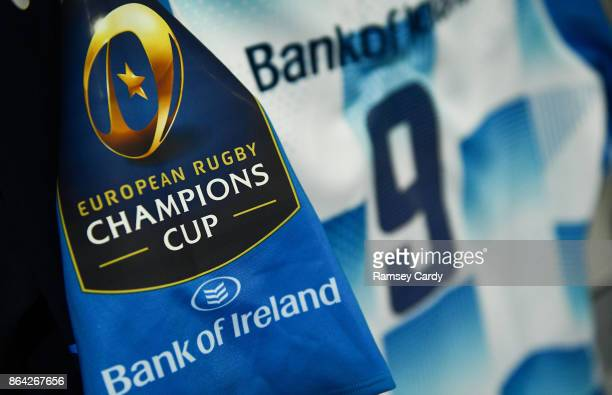 Glasgow United Kingdom 21 October 2017 The jersey of Luke McGrath hangs in the Leinster dressing room ahead of the European Rugby Champions Cup Pool...
