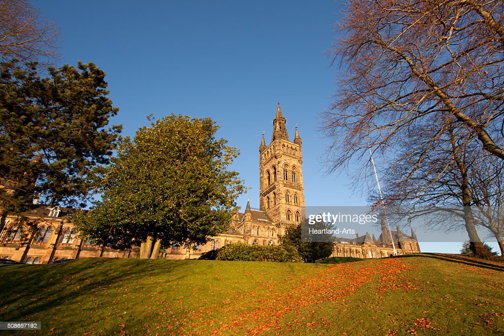 Glasgow University Scotland Main Building : Stock Photo