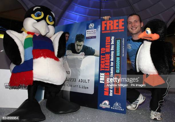 Glasgow Warrior James Eddie with an Autumn test ticket at Xscape Leisure Centre in Glasgow as he urges Scotland fans to pick up their free Magners...