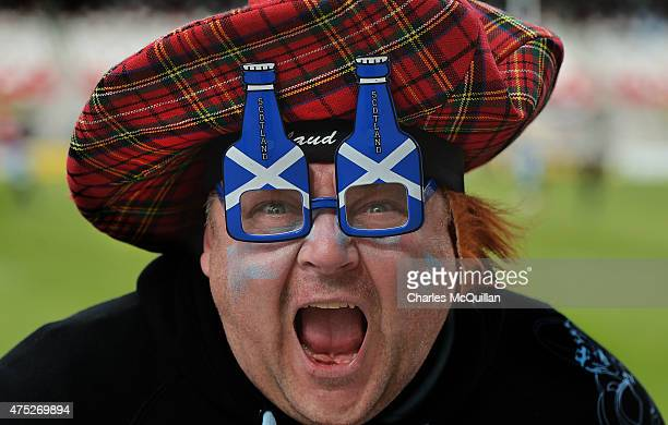 Glasgow Warriors fan during the Guinness Pro 12 final match between Munster and Glasgow Warriors at Kingspan Stadium on May 30 2015 in Belfast United...