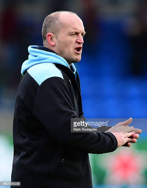 Glasgow Warriors head coach Gregor Townsend during the European Rugby Champions Cup Pool 4 match between Glasgow Warriors and Toulouse at Scotstoun...