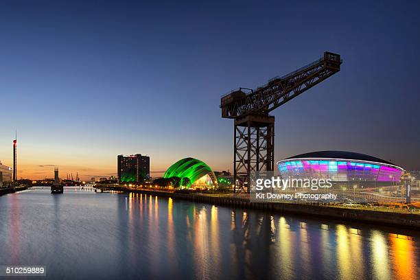 Glasgow waterfront at dusk