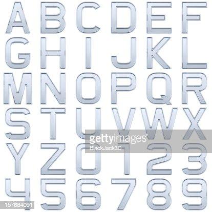 Glass alphabet (Extra Large Size)