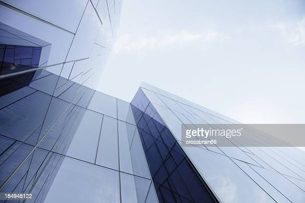 glass and steel office building