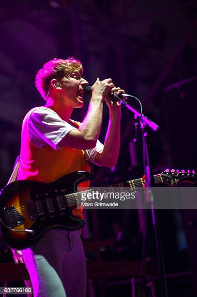 Glass Animals performs at St Jerome's Laneway Festival on January 26 2017 in Brisbane
