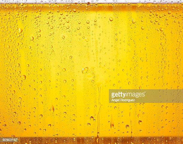 Glass beer close up