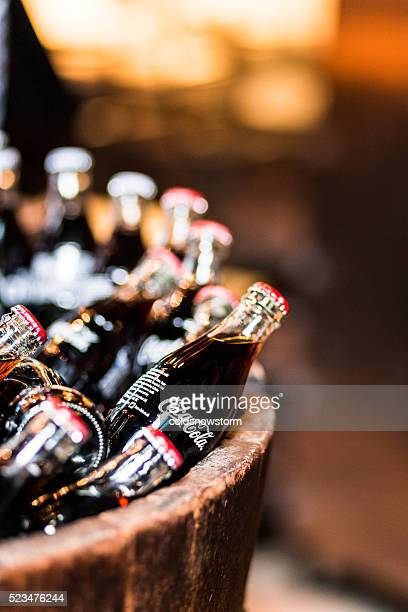 Glass bottles of Coca Cola for sale, Borough Market, London