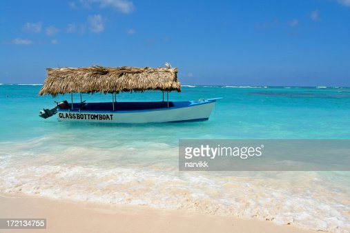 Glass Bottom Boat on Punta Cana Beach in Dominican Rep.