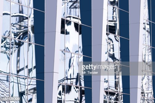 Glass building reflection : Stock Photo