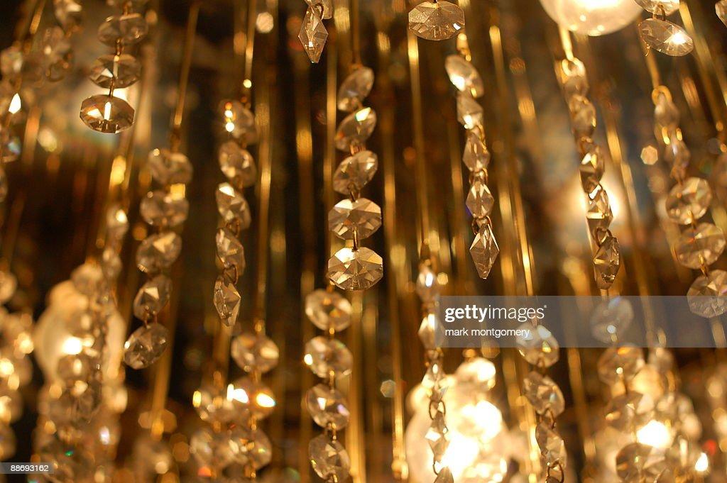 Glass chandelier : Stock Photo
