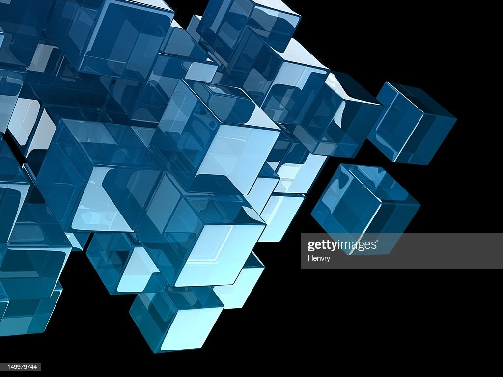 glass cubes : Stock Photo