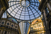 View of glass cupola of Vittorio Emanuelle II gallery