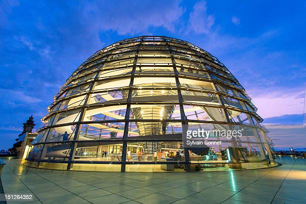 Glass dome of the Reichstag building, Berlin