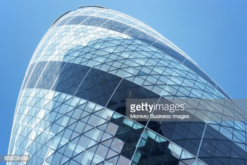 Glass Exterior Of Swiss Re Tower, London, England : Stock Photo