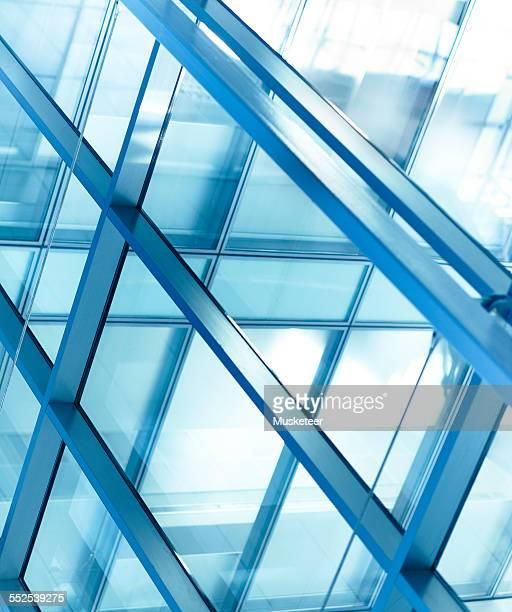 Glass facade in a modern office building