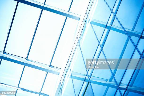 Glass facade in a modern office building
