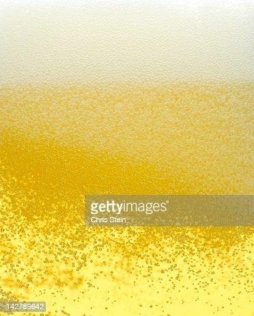 Glass full of Beer Foam