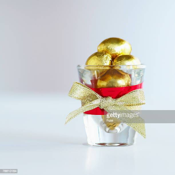 Glass Full of Chocolate Eggs