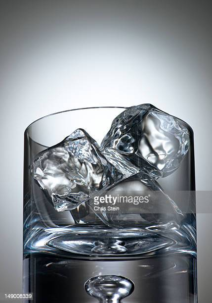 Glass full of Ice Cubes