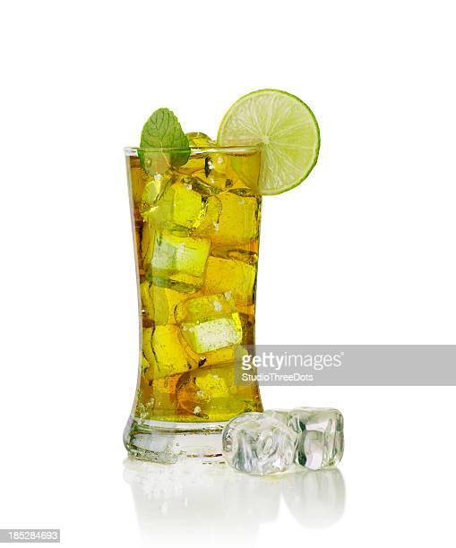 Glass full of ice tea