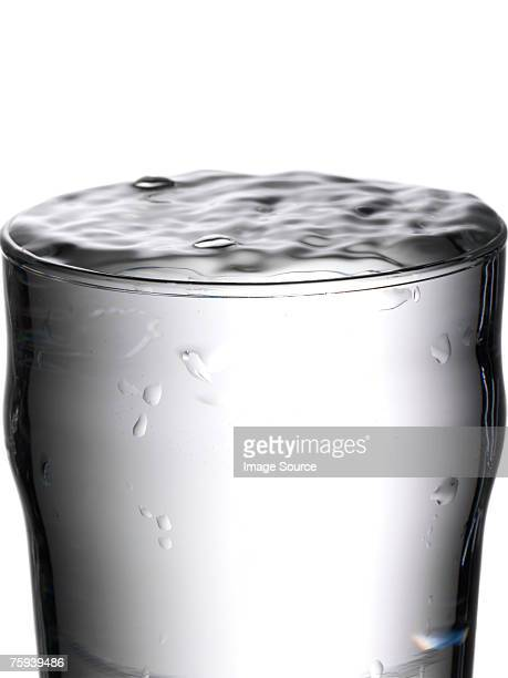 Glass full of water