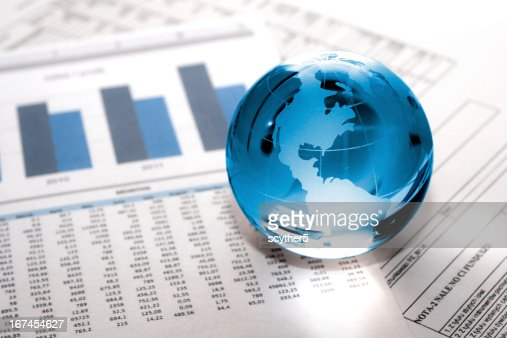 glass globe business. Global Market : Stock Photo