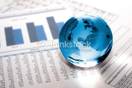 glass globe business. Global Market : Stock Photo