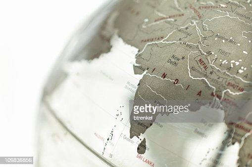 Glass globe - India