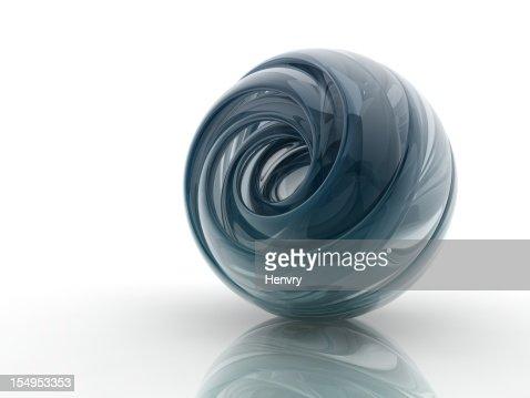 glass helix shape